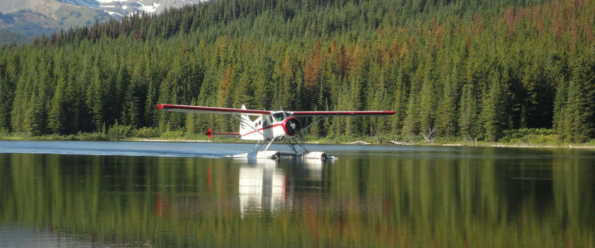 Float Plane which is typical of fly-in Canada Fishing Trips