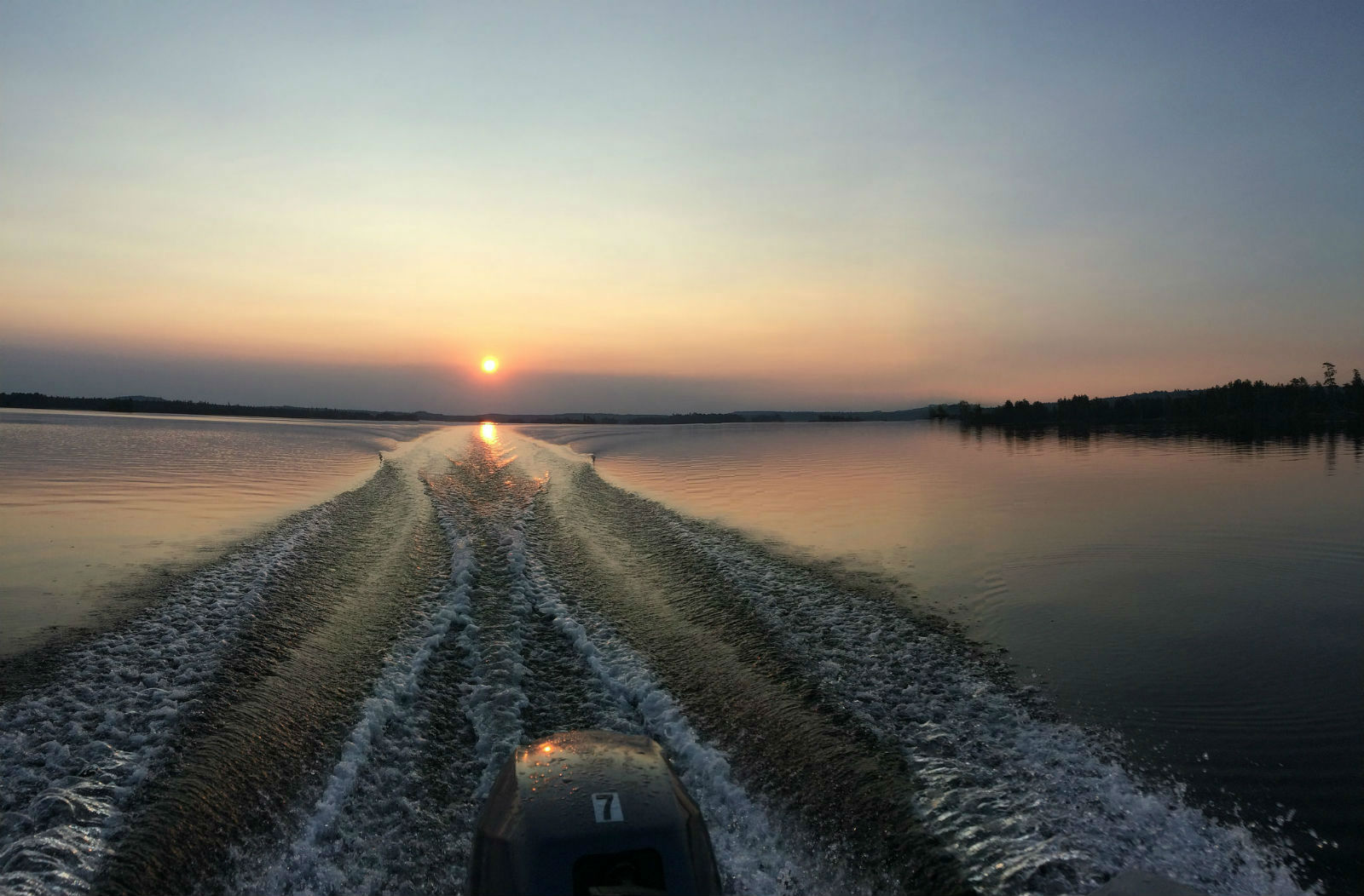 Beautiful sunset on one of our fishing trips...this is what it's all about.